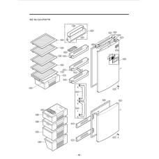 Купить запчасти для холодильника LG GA-479UVPA