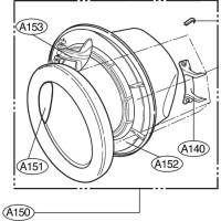 Люк стиральной машины LG Элджи ADC74806525