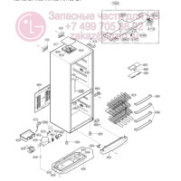 Запчасти холодильника LG GA-419UPA