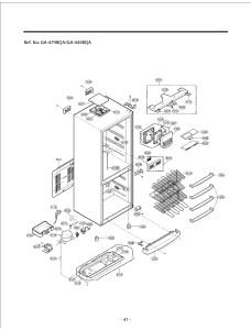 Запчасти холодильника LG GA-449BQA