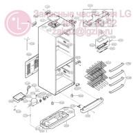 Запчасти холодильника LG GA-449UBA