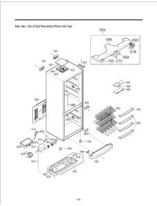 Запчасти холодильника LG GA-449ULPA