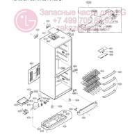 Запчасти холодильника LG GA-449USPA