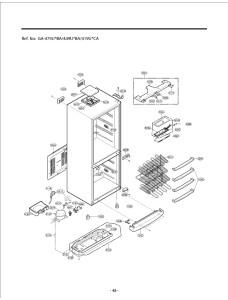 Запчасти холодильника LG GA-449UTBA