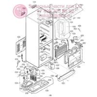 Запчасти холодильника LG GA-B399BLQA
