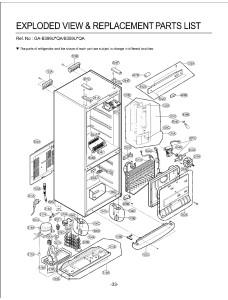 Запчасти холодильника LG GA-B399UEQA