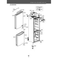 Запчасти холодильника LG GA-B409SECL