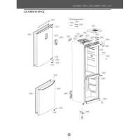 Запчасти холодильника LG GA-B409SMQL