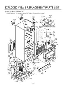 Запчасти холодильника LG GA-B409UECA