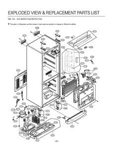 Запчасти холодильника LG GA-B409UEQA