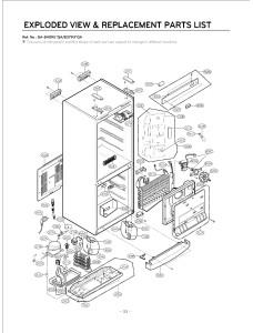 Запчасти холодильника LG GA-B409UQA