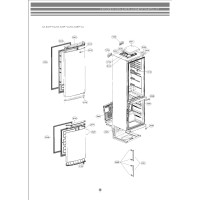 Запчасти холодильника LG GA-B439BECA