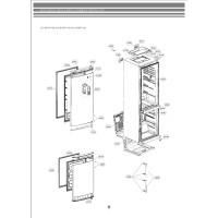 Запчасти холодильника LG GA-B439BQA