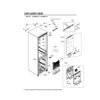 Запчасти холодильника LG GA-B459BMDZ