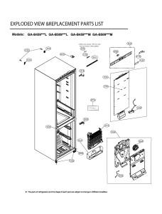 Запчасти холодильника LG GA-B459SEKL