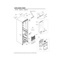 Запчасти холодильника LG GA-B459SMUM