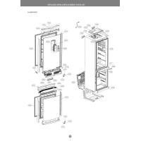 Запчасти холодильника LG GA-B489TGLC