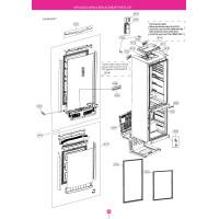 Запчасти холодильника LG GA-B499TGBM
