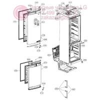 Запчасти холодильника LG GA-B499YLUZ