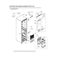 Запчасти холодильника LG GA-B509MESL