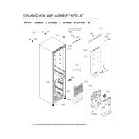 Запчасти холодильника LG GA-B509MLSL