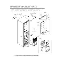 Запчасти холодильника LG GA-B509MQSL