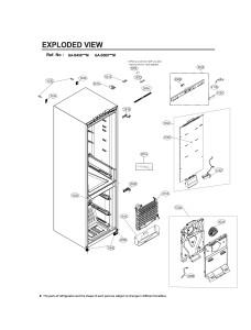 Запчасти холодильника LG GA-B509MVQM