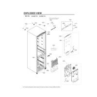 Запчасти холодильника LG GA-B509SEUM
