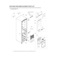 Запчасти холодильника LG GA-B509SQKL