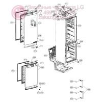Запчасти холодильника LG GA-E489ZAQZ