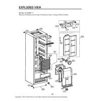 Запчасти холодильника LG GC-B404EMRV