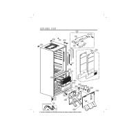 Запчасти холодильника LG GC-B559PMBZ