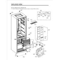Запчасти холодильника LG GW-B489BLSW
