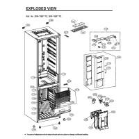 Запчасти холодильника LG GW-B489SMFZ