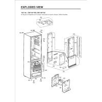 Запчасти холодильника LG GW-B499BLQZ