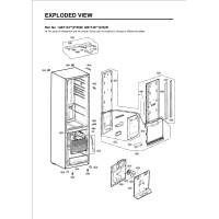 Запчасти холодильника LG GW-B499BTQW