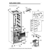 Запчасти холодильника LG GW-B499SEFZ