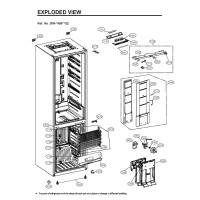 Запчасти холодильника LG GW-B499SQGZ