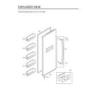 Запчасти холодильника LG GW-C207FLQA