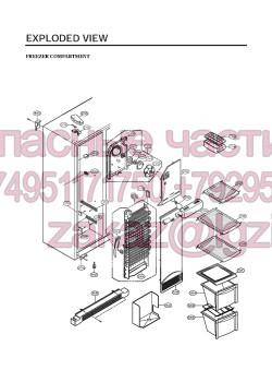Запчасти холодильника LG GW-C207FVQA