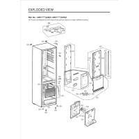 Запчасти холодильника LG GW-F499BNKZ