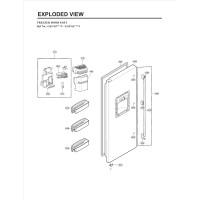Запчасти холодильника LG GW-L227NLPV