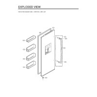 Запчасти холодильника LG GW-P207FLQA