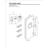 Запчасти холодильника LG GW-P227NLPV