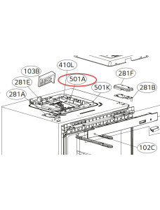 Плата управления холодильника LG GW-B489BLSW